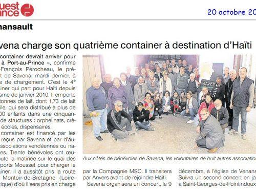 Chargement du 4è containet pour Haïti